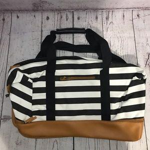 DSW Striped Duffle Bag